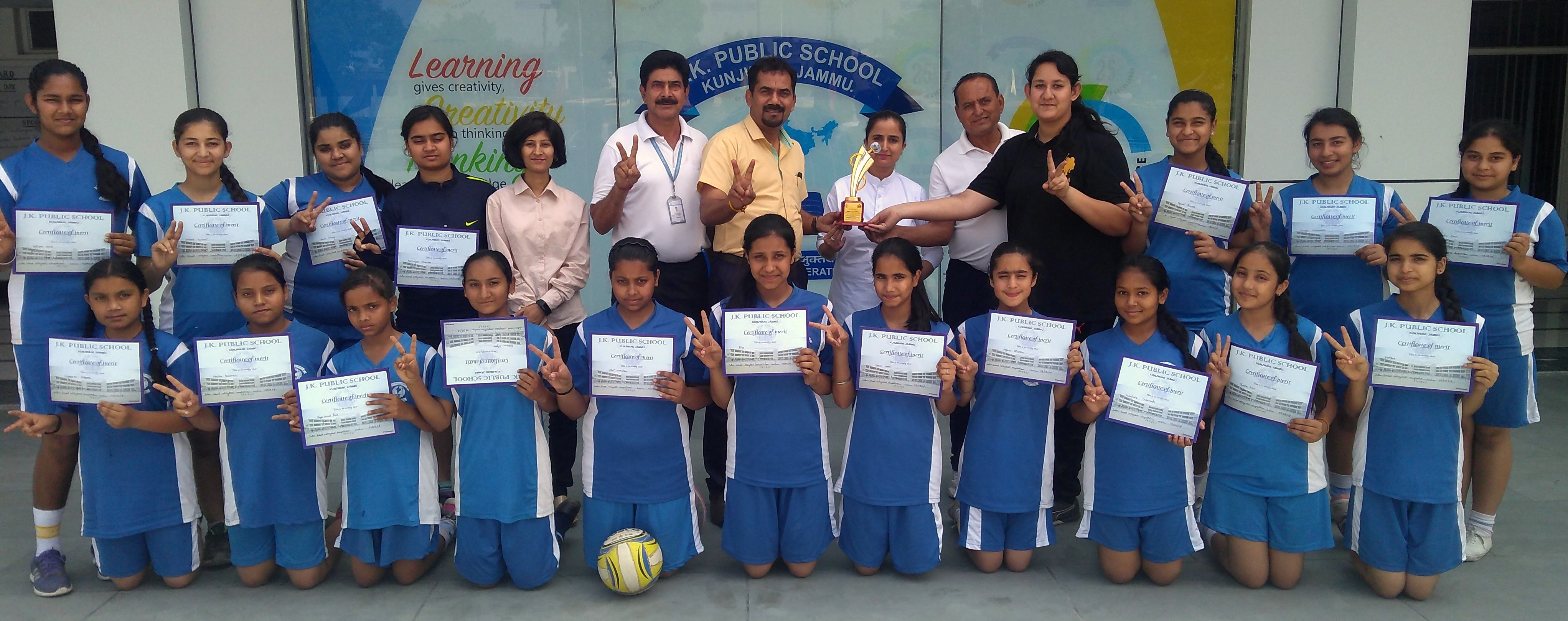 JK PUBLIC SCHOOL, KUNJWANI SHINES IN U-14 AND U-17 VOLLEYBALL CHAMPIONSHIP